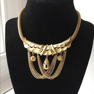 Vintage Mesh Festoon Necklace